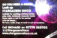 Stargazers Disco for Birthday Parties and Weddings taking bookings for 2021, 2022